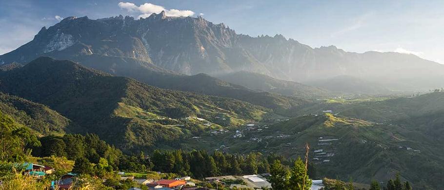 Mountain Range & Village